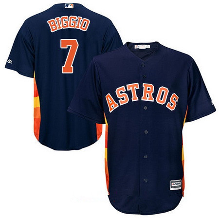 Youth Houston Astros #7 Craig Biggio Retired Navy Blue Stitched MLB Majestic Cool Base Jersey
