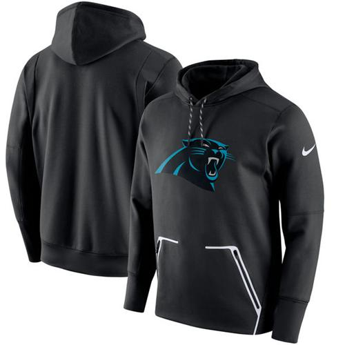 Men's Carolina Panthers Nike Black Champ Drive Vapor Speed Performance Pullover Hoodie