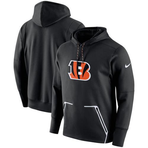 Men's Cincinnati Bengals Nike Black Champ Drive Vapor Speed Performance Pullover Hoodie