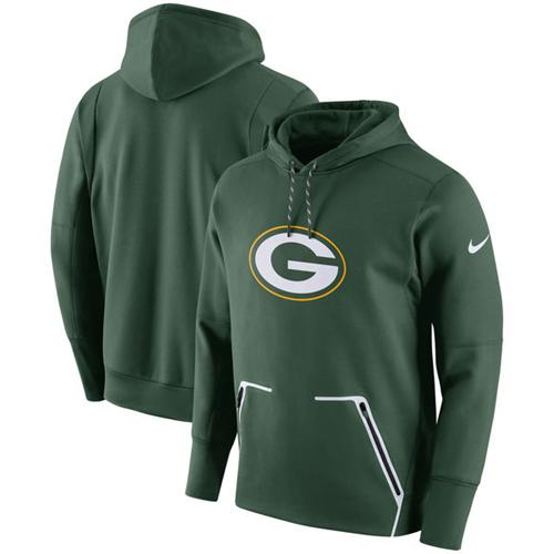 Men's Green Bay Packers Nike Green Champ Drive Vapor Speed Pullover Hoodie
