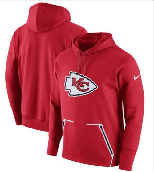Men's Kansas City Chiefs Nike Red Champ Drive Vapor Speed Pullover Hoodie