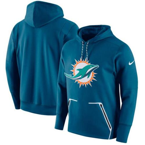 Men's Miami Dolphins Nike Aqua Champ Drive Vapor Speed Pullover Hoodie