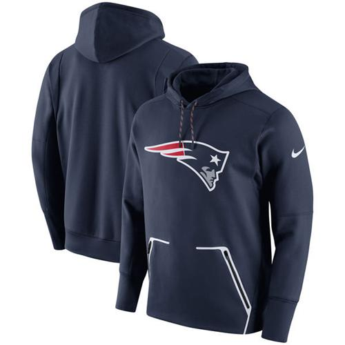 Men's New England Patriots Nike Navy Champ Drive Vapor Speed Performance Pullover Hoodie