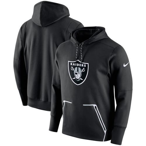 Men's Oakland Raiders Nike Black Champ Drive Vapor Speed Performance Pullover Hoodie