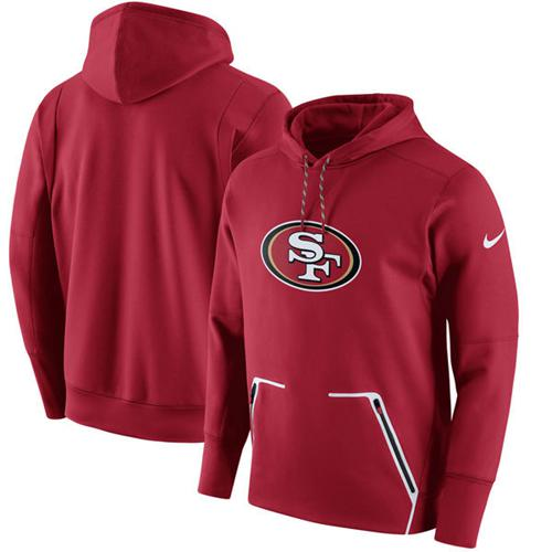 Men's San Francisco 49ers Nike Scarlet Champ Drive Vapor Speed Performance Pullover Hoodie