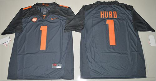 Tennessee Vols #1 Jalen Hurd Grey Limited Stitched NCAA Jersey