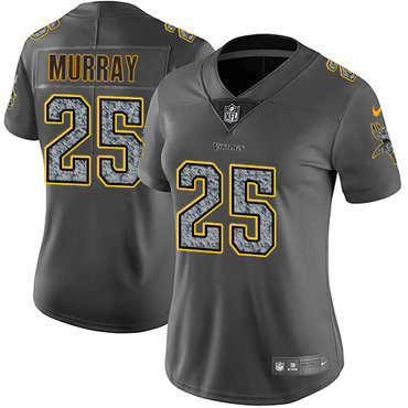 Women's Nike Minnesota Vikings #25 Latavius Murray Gray Static Stitched NFL Vapor Untouchable Limited Jersey