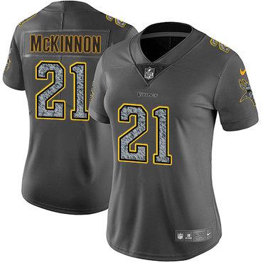 Women's Nike Minnesota Vikings #21 Jerick McKinnon Gray Static Stitched NFL Vapor Untouchable Limited Jersey
