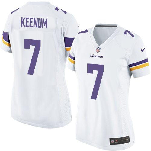 Women's Nike Minnesota Vikings #7 Case Keenum Game White NFL Jersey