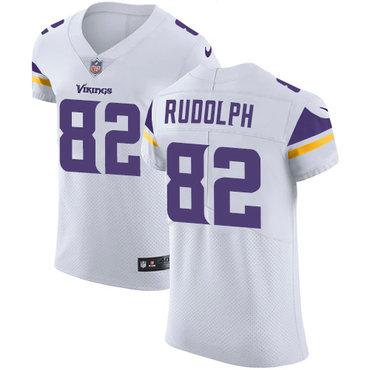 Men's Nike Minnesota Vikings #82 Kyle Rudolph White Stitched NFL Vapor Untouchable Elite Jersey
