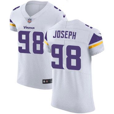 Men's Nike Minnesota Vikings #98 Linval Joseph White Stitched NFL Vapor Untouchable Elite Jersey