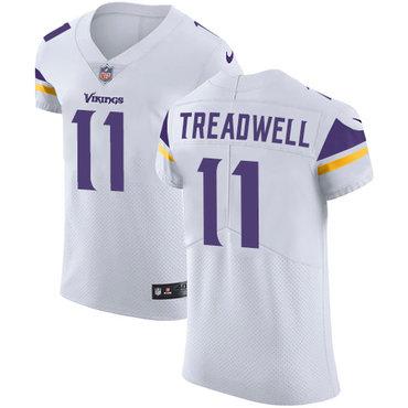 Men's Nike Minnesota Vikings #11 Laquon Treadwell White Stitched NFL Vapor Untouchable Elite Jersey