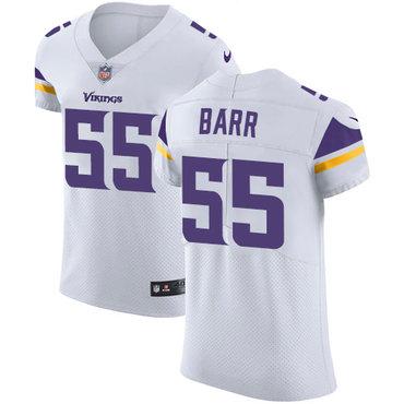 Men's Nike Minnesota Vikings #55 Anthony Barr White Stitched NFL Vapor Untouchable Elite Jersey