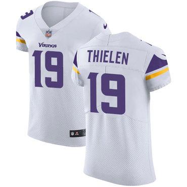 Men's Nike Minnesota Vikings #19 Adam Thielen White Stitched NFL Vapor Untouchable Elite Jersey