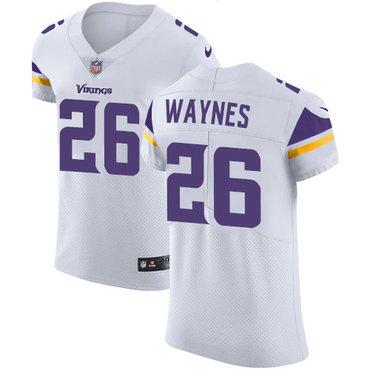 Men's Nike Minnesota Vikings #26 Trae Waynes White Stitched NFL Vapor Untouchable Elite Jersey