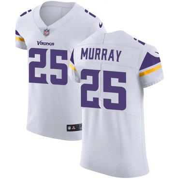 Men's Nike Minnesota Vikings #25 Latavius Murray White Stitched NFL Vapor Untouchable Elite Jersey