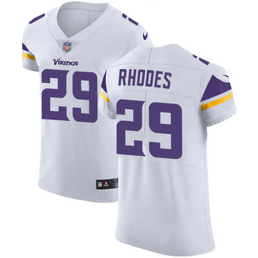 Men's Nike Minnesota Vikings #29 Xavier Rhodes White Stitched NFL Vapor Untouchable Elite Jersey