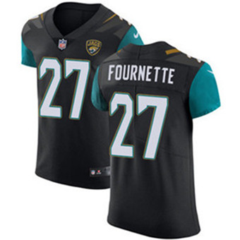 Men's Nike Jacksonville Jaguars #27 Leonard Fournette Black Alternate Stitched NFL Vapor Untouchable Elite Jersey