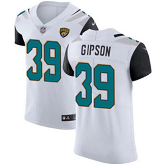Men's Nike Jacksonville Jaguars #39 Tashaun Gipson White Stitched NFL Vapor Untouchable Elite Jersey