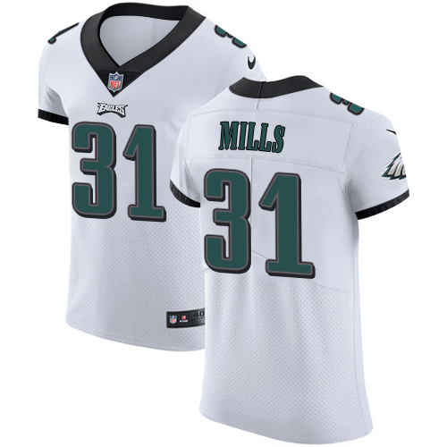 Men's Nike Philadelphia Eagles #31 Jalen Mills White Stitched NFL Vapor Untouchable Elite Jersey