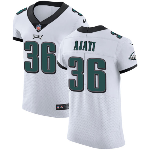 Men's Nike Philadelphia Eagles #36 Jay Ajayi White Stitched NFL Vapor Untouchable Elite Jersey