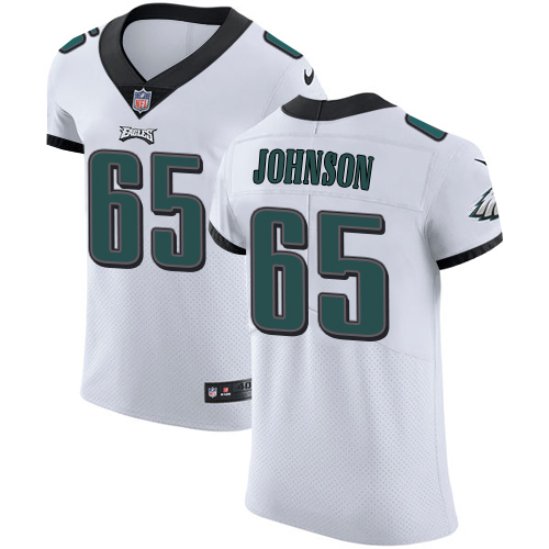 Men's Nike Philadelphia Eagles #65 Lane Johnson White Stitched NFL Vapor Untouchable Elite Jersey