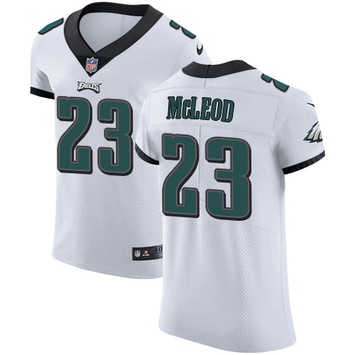 Men's Nike Philadelphia Eagles #23 Rodney McLeod White Stitched NFL Vapor Untouchable Elite Jersey