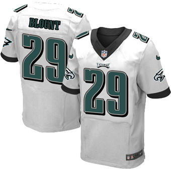 Men's Nike Philadelphia Eagles #29 LeGarrette Blount White Stitched NFL New Elite Jersey