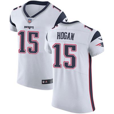 Men's Nike New England Patriots #15 Chris Hogan White Stitched NFL Vapor Untouchable Elite Jersey