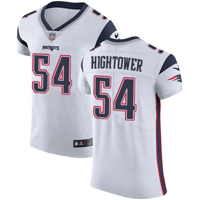 Men's Nike New England Patriots #54 Dont'a Hightower White Stitched NFL Vapor Untouchable Elite Jersey