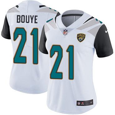 Women's Nike Jacksonville Jaguars #21 A.J. Bouye White Stitched NFL Vapor Untouchable Limited Jersey