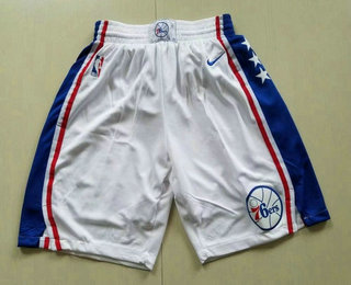 Nike Philadelphia 76ers White Swingman Shorts