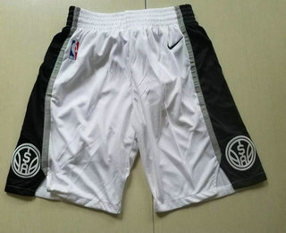 Nike San Antonio Spurs White Swingman Shorts