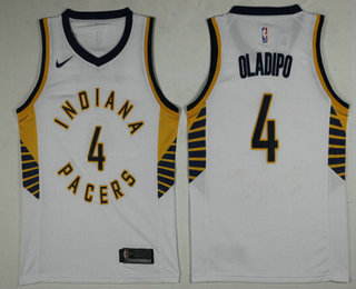Men's Indiana Pacers #4 Victor Oladipo New White 2017-2018 Nike Swingman Stitched NBA Jersey