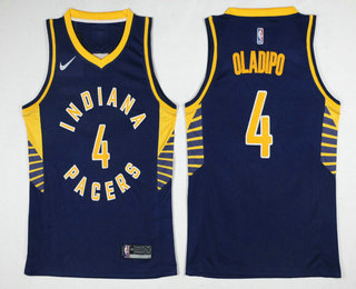Men's Indiana Pacers #4 Victor Oladipo New Navy Blue 2017-2018 Nike Swingman Stitched NBA Jersey
