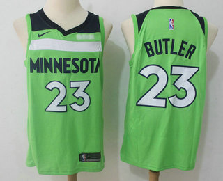 Men's Minnesota Timberwolves #23 Jimmy Butler New Green 2017-2018 Nike Swingman Fitbit Stitched NBA Jersey