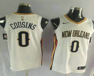 Men's New Orleans Pelicans #0 DeMarcus Cousins New White 2017-2018 Nike Swingman Stitched NBA Jersey