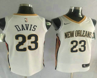 Men's New Orleans Pelicans #23 Anthony Davis New White 2017-2018 Nike Swingman Stitched NBA Jersey