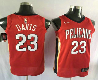 Men's New Orleans Pelicans #23 Anthony Davis New Red 2017-2018 Nike Swingman Stitched NBA Jersey