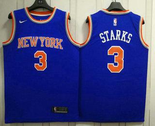 Men's New York Knicks #3 John Starks New Blue 2017-2018 Nike Swingman Stitched NBA Jersey