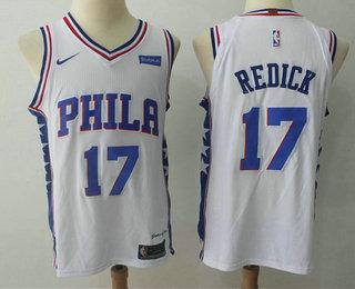 Men's Philadelphia 76ers #17 J.J. Redick White 2017-2018 Nike Authentic Stubhub Stitched NBA Jersey