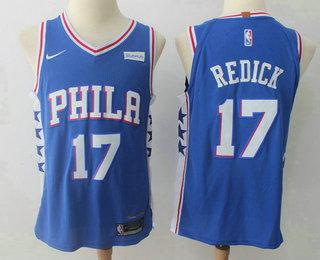 Men's Philadelphia 76ers #17 J.J. Redick Royal Blue 2017-2018 Nike Authentic Stubhub Stitched NBA Jersey