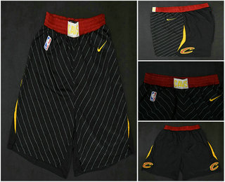 Men's Cleveland Cavaliers Black 2017-2018 Nike Swingman Stitched NBA Shorts