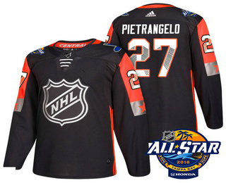 Men's St. Louis Blues #27 Alex Pietrangelo Black 2018 NHL All-Star Stitched Ice Hockey Jersey