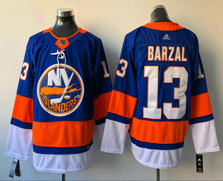 Men's New York Islanders #13 Mathew Barzal Blue Home 2017-2018 Hockey Stitched NHL Jersey