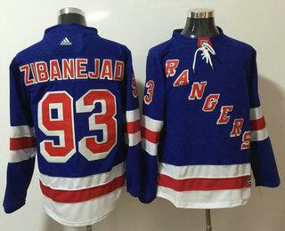 Men's New York Rangers #93 Mika Zibanejad Royal Blue Home 2017-2018 Hockey Stitched NHL Jersey