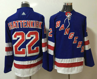 Men's New York Rangers #22 Kevin Shattenkirk Royal Blue Home 2017-2018 Hockey Stitched NHL Jersey