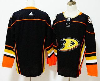 Men's Anaheim Ducks Blank Black 2017-2018 Hockey Stitched NHL Jersey