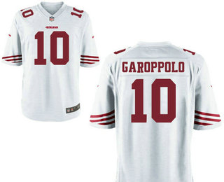 Men's San Francisco 49ers #10 Jimmy Garoppolo White Road Stitched NFL Nike Game Jersey