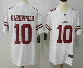 Men's San Francisco 49ers #10 Jimmy Garoppolo White 2017 Vapor Untouchable Stitched NFL Nike Limited Jersey